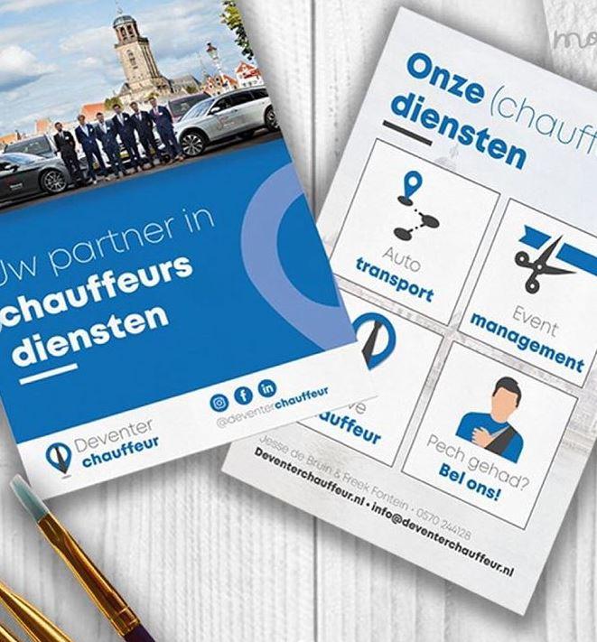 Nieuwe Stijl Grafische Vormgeving Putten Ontwerp Goedkoop Reclame Veluwe Logo Drukwerk Wallpaper Illustratie Flyer Deventerchauffeur